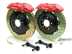 Brembo Front GT BBK Brake 4pot Caliper Red 380x32 Drill Disc for FX35 FX45 03-08