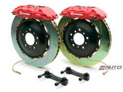 Brembo Front GT BBK Brake 4pot Caliper Red 380x32 Slot Rotor for FX35 FX45 03-08