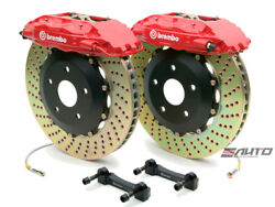 Brembo Front GT BBK Brake 4piston Red 332x32 Drill Disc for G35 350Z Fairlady