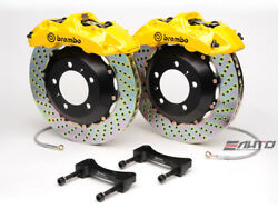 Brembo Front GT BBK Brake 6piston Yellow 355x32 Drill Disc for G35 350Z Fairlady