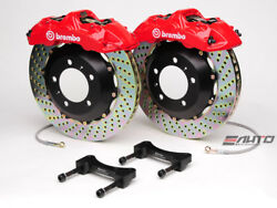 Brembo Front GT BBK Brake 6piston Red 355x32 Drill Disc for G35 350Z Fairlady