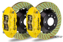 Brembo Rear GT BBK Brake 4pot Yellow 345x28 Drill Disc for G35 350Z Fairlady Z33