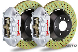 Brembo Rear GT BBK Brake 4piston Silver 345x28 Drill Disc for G35 350Z Fairlady