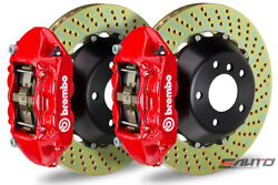 Brembo Rear GT BBK Brake 4piston Red 345x28 Drill Disc for G35 350Z Fairlady Z33