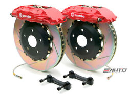 Brembo Front GT BBK Brake 4pot Caliper Red 355x32 Slot Disc Rotor for Q45 02-06