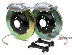 Brembo Rear GT Brake 4pot Silver 328x28 Slot Rotor for Benz W204 C204 C207 A207