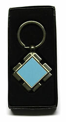 Diamond Shape Metal Keyring With Sublimation Print Insert For Heat Press A22