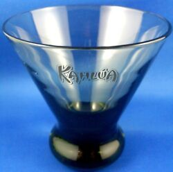 Kahlua Special Low Ball Smokey Cocktail Glass Vg Man Cave Bar Collectable - Aust
