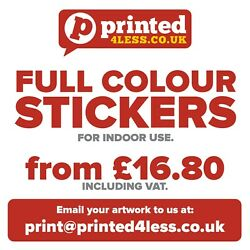 Stickers Printed Full Colour Flyers Indoors Address Labels A8 A7 A6 A5 A4 Circle