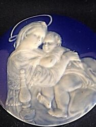 Hand Painted Limoges Pate Sur Pate French Plaque Porcelain Madonna Of The Chair