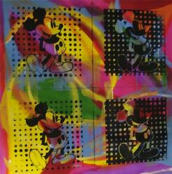 Four Mickeyand039s By Gail Rodgers - One-of-a-kind Hand-pulled Silkscreen - Var 2