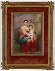 Petragnani Active In Rome In Late 19th C. After Murillo's Madonna, Miniature