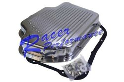 Polished Finned Th-400 Th400 Turbo 400 Transmission Pan W/ Bolts And Gasket Chevy