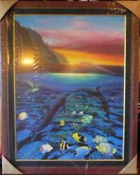Kiss For The Sea By Robert Wyland. Limited Edition Giclee On Canvas 37x37 Big