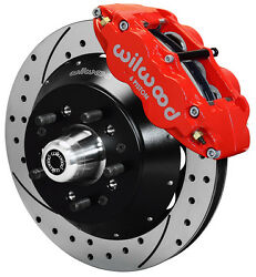 Wilwood Disc Brake Kitfront64-74 Gm14 Drilled Rotors6 Piston Red Calipers