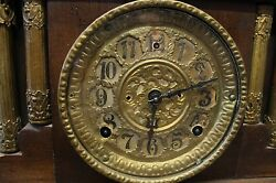 Old American Wood Chime Mantle Clock
