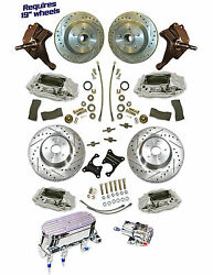 1960-87 Chevy Truck 14.5 Rotor Disc Brake System 2.5 Drop Spindles