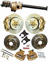 1947-54 Chevy Car 13 Disc Brake Complete Front And Rear Brake Systems