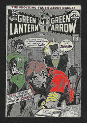 Green Lantern And Green Arrow 85 Signandeacute/signed Neal Adams Anti-drug Issue 1971 Vf-