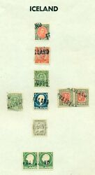 Iceland Cancels - Collection Of Foreign Cancels On Icelandic Stamps And Covers
