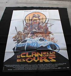 Clan Of The Cave Bear Original Movie Poster 1986 French 47x63 - Very Fine