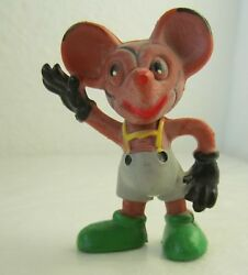 Antique Vintage Mickey Mouse Rubber Toy Figure Rare