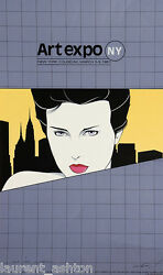 Patrick Nagel Hand Signed Lithograph Art Expo Ny New York Mirage Editions 1981