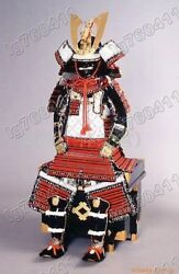 Japanese Iron And Silk Knotted Wearable Rüstung Samurai Armor Suit 011