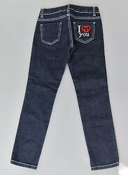 New Authentic Gucci Denim Jeans Pants wI Love You Interlocking G 8 284065 $159.99