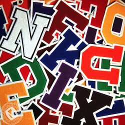 Chenille Varsity Letter Patches A-m 11 Colors School Letter Patch Made In Usa.