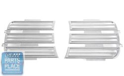 1969 Camaro Rally Rs Headlight Grilles Billet Aluminum - Polished Finish - Pair