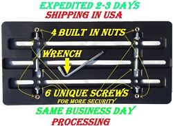 20 License Plate Brackets For Bumper With 6 Unique Screws And Wrench Kit Brand New