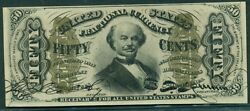 50andcent Fractional Currency Red Reverse W/colby And Spinner Autographs Fr. 1328 Unc+