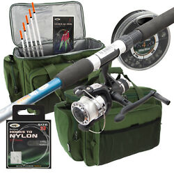 Travel 6ft Telescopic Fishing Rod And Reel Combo Setup With Carryall And Tackle Ngt