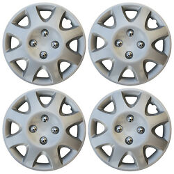 4 Piece Set 14 Inch Hub Cap Silver Skin Rim Cover For Steel Wheel Covers Caps