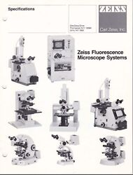 Zeiss Fluorescent Microscope Systems Brochure And Price List L0188 On Cd