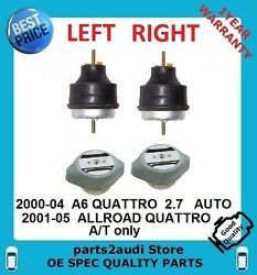 Engine Motor Mount Pair Transmission Mounts Left + Right A6 2.7 Autos Allroad