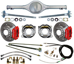 Currie 67-70 Mustang Rear End And Wilwood Disc Brakesred Caliplinescablesaxles