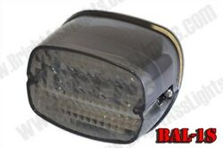 Bright Ass Lights Led Taillight For H-d - Smoked Lens Squareback W/o Tag Window
