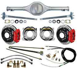 Currie 82-97 S-10 And Blazer Rear End And Wilwood Drilled Disc Brakesred Calipers+