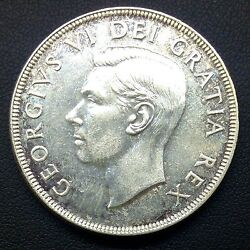 1951 Canadian Silver Dollar 3 Water Lines