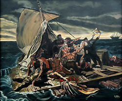 Oil Painting On Canvas Raft Of Medusa Reproduction Of Theodore Gericault 20x24