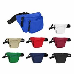DALIX Fanny Pack with 3 Pockets Blue Black Maroon Travel Waist Pouch Adjustable $3.99