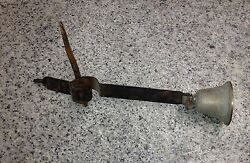 Call Service Bell Wall Antique Vintage Twister Bronze Iron.