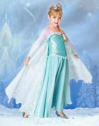 Disney Store Frozen Princess Elsa Limited Edition LE Costume NEW Dress Ice Queen