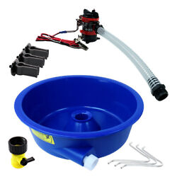 Blue Bowl Concentrator Kit With Pump Battery Clips Leg Levelers Gold Prospecting