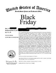 BLACK FRIDAY   Trademark  Advertising