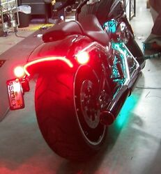 Harley-davidson Breakout Under-the-fender Led Taillight And Turn Signals Smoke
