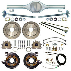 Currie Rear End And Drilled Disc Brakes,lines,cables,axles,fits Jeep Cj5,cj7,82-86