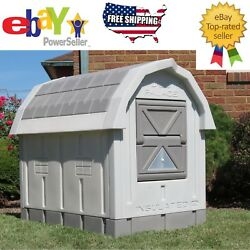 ASL Solutions Insulated Medium Large Dog House Palace Raised Floor Bed Grey